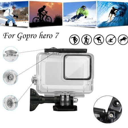 Tuscom For GoPro Hero7 White/Silver Waterproof Case Diving Protective Housing Shell