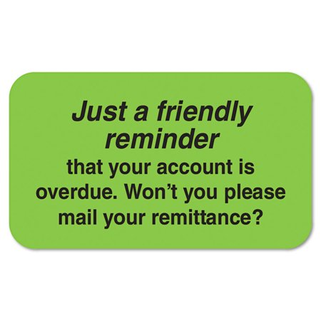 Medical Labels, Friendly Reminder, 7/8 X 1-1/2, Fluor Green, 250/roll](Friendly Reminder)