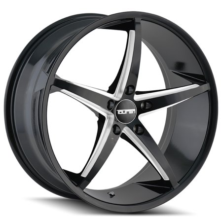 "Touren TR70 17x7.5 5x4.5"" +40mm Black/Milled Wheel Rim 17"" Inch"