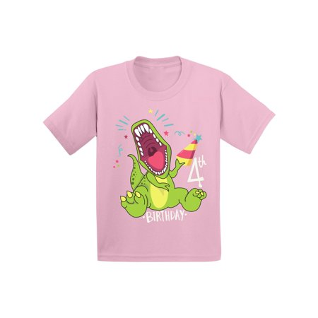 Awkward Styles Dinosaur Birthday Shirt For 4 Year Old 4th Party Gifts Kids Themed Boy