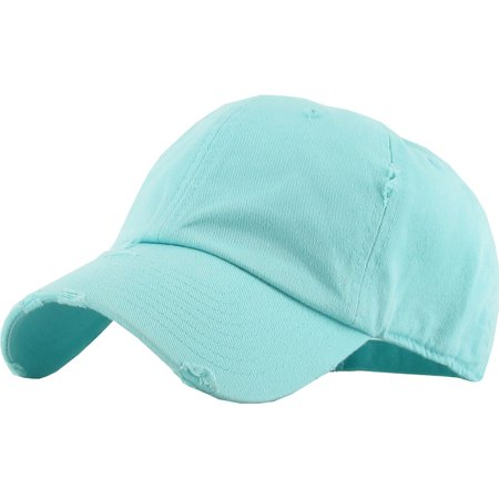 Washed Solid Vintage Distressed Cotton Dad Hat Adjustable Baseball Cap Polo  Style - Walmart.com 5145cdf8c314