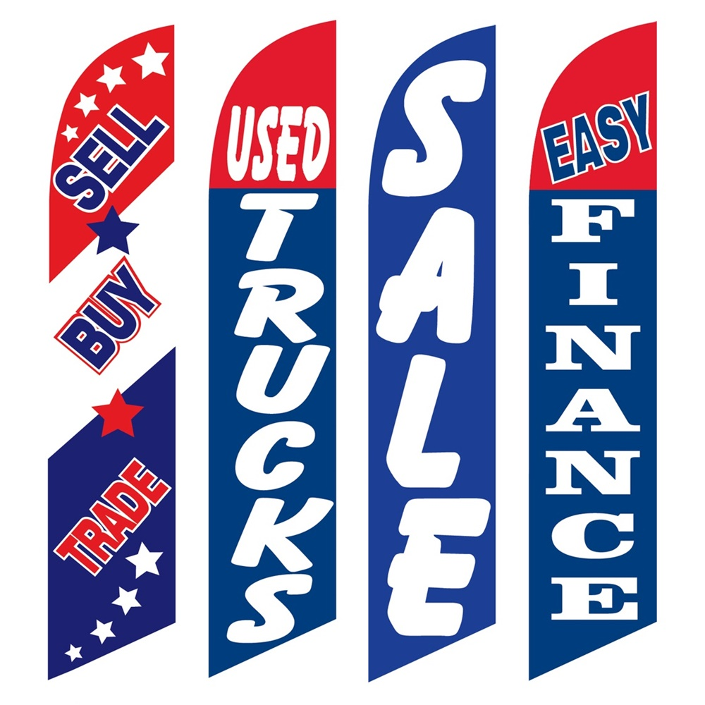 4 Advertising Swooper Flags Sell Buy Trade Used Trucks Sale Easy Finance