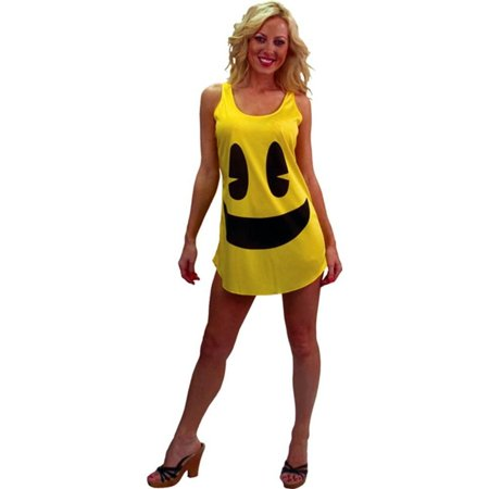 Pac-Man Deluxe Costume Tank Costume Dress Adult/Teen Standard (Adult Pac Man Costume)