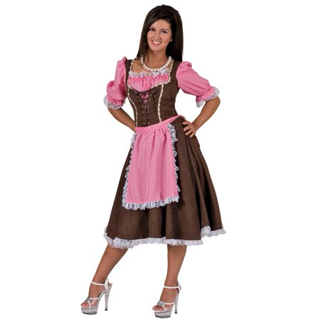 Ladies Alps Away Oktoberfest Costume (Extra (17th Century Women's Costume)
