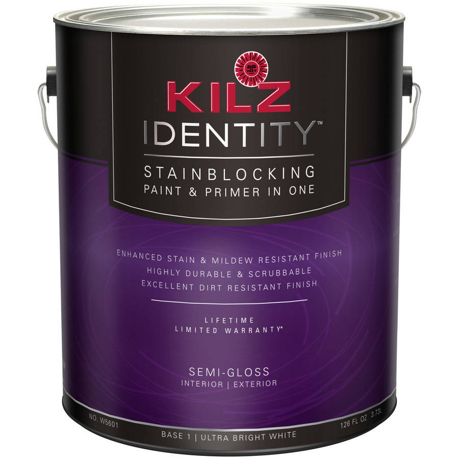 KILZ Identity Semi-Gloss Ultra Bright White Base, 1 Quart