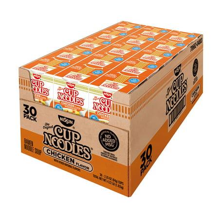 Nissin Cup Noodles Chicken Flavor (2.25 oz., 30 Pack -