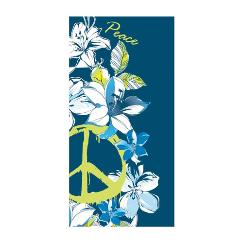 Kaufman Sales Hibiscus Peace Beach Towel