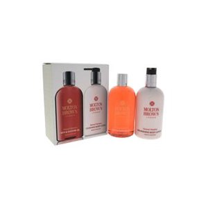 Molton Brown Sensual Hanaleni Bath & Body 10oz Bath & Shower Gel, 10oz Nourishing Body Lotion For Women  2 Pc Set