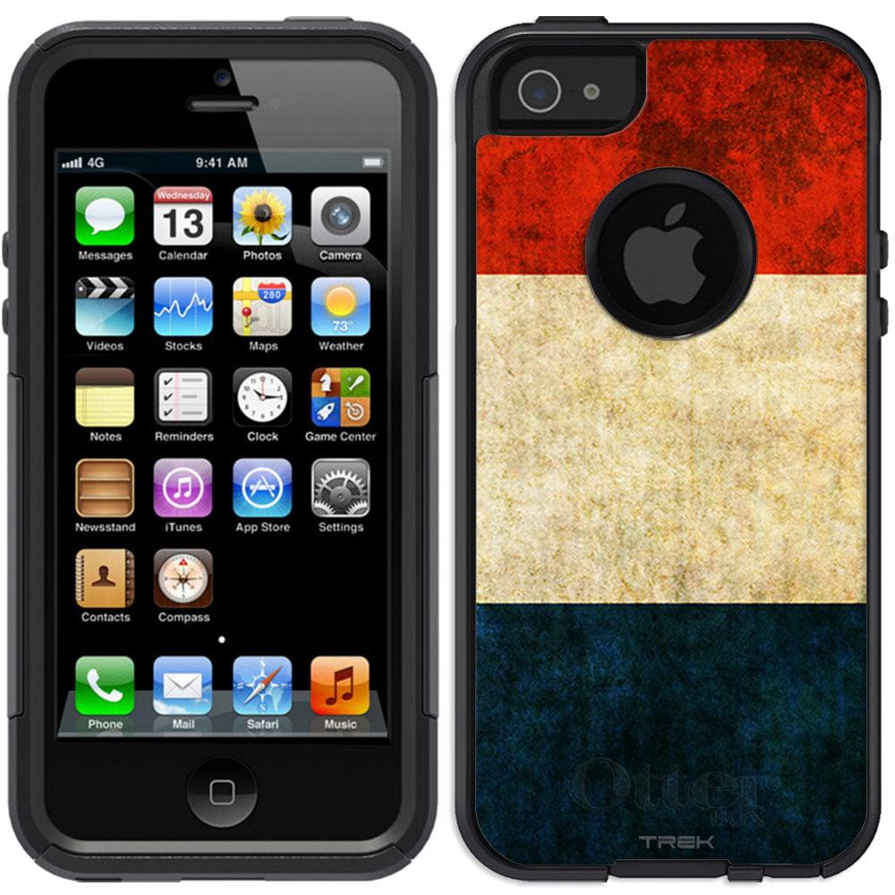 Skin Decal for OtterBox Commuter Apple iPhone SE Case Vintage Dutch Flag by Trek Media Group