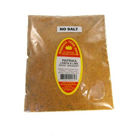 Lemon Bouquet - Family Size Refill Marshalls Creek Spices Paprika Lemon & Lime Spice Bouquet No Salt Seasoning, 24 Ounce