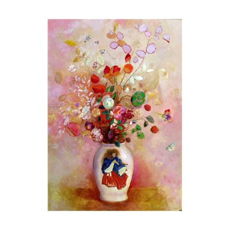 Bouquet of Flowers in a Japanese Vase, c.1905-08 Print Wall Art By Odilon