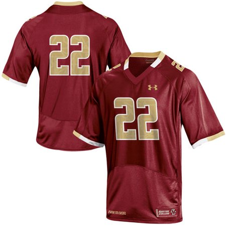 check out 1953b db4f8 Men's Under Armour Maroon #22 Boston College Eagles Replica Football Jersey