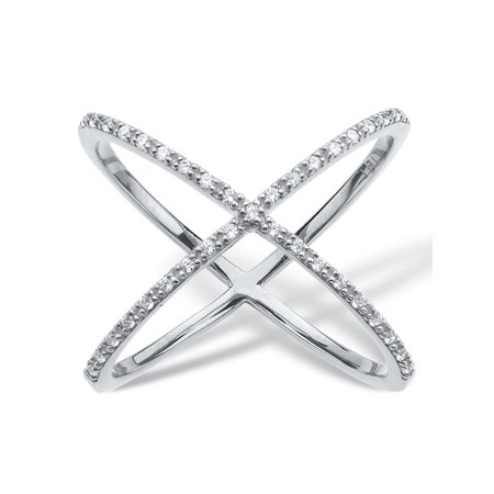 1/5 TCW Diamond Crisscross Designer-Inspired