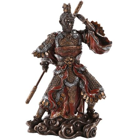 Monkey King Sun WuKong Holding Golden Staff Journey To the West Collectible Figurine 11.5 (Sun Wukong Journey To The West Art)