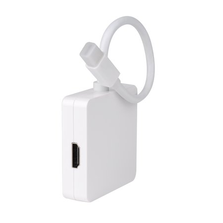 VicTsing Mini Display Port DP to DVI VGA HDMI TV AV HDTV Adapter cable 3 in1 for Mac Book, iMac, Mac Book Air, Mac Book Pro, and Mac mini-Square Shape