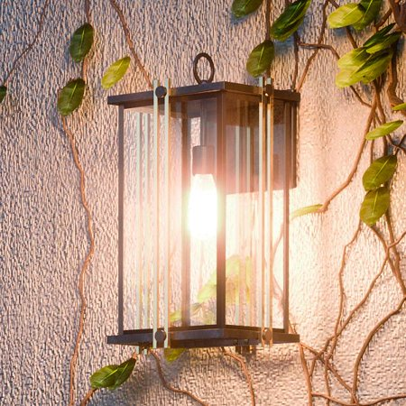 - Urban Ambiance Luxury Transitional Outdoor Wall Light, Medium Size: 16.25