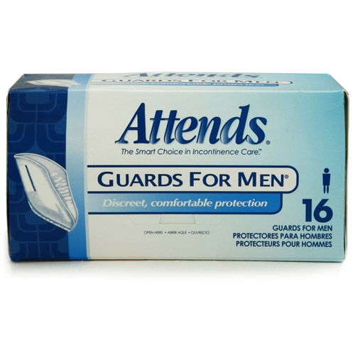 Attends For Men Guards, 16ct