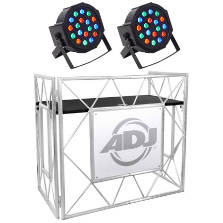 American DJ Pro Event Table II Foldable Portable DJ Booth Truss