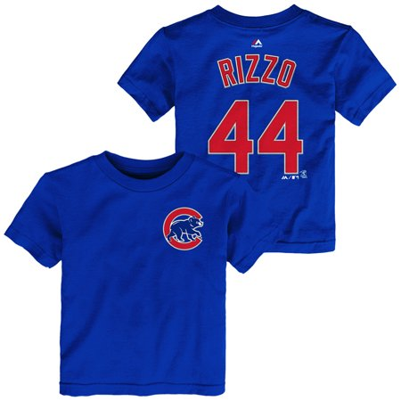 Cub Lo Boy (Chicago Cubs Toddler Anthony Rizzo Name and Number T-Shirt - Royal #44 )