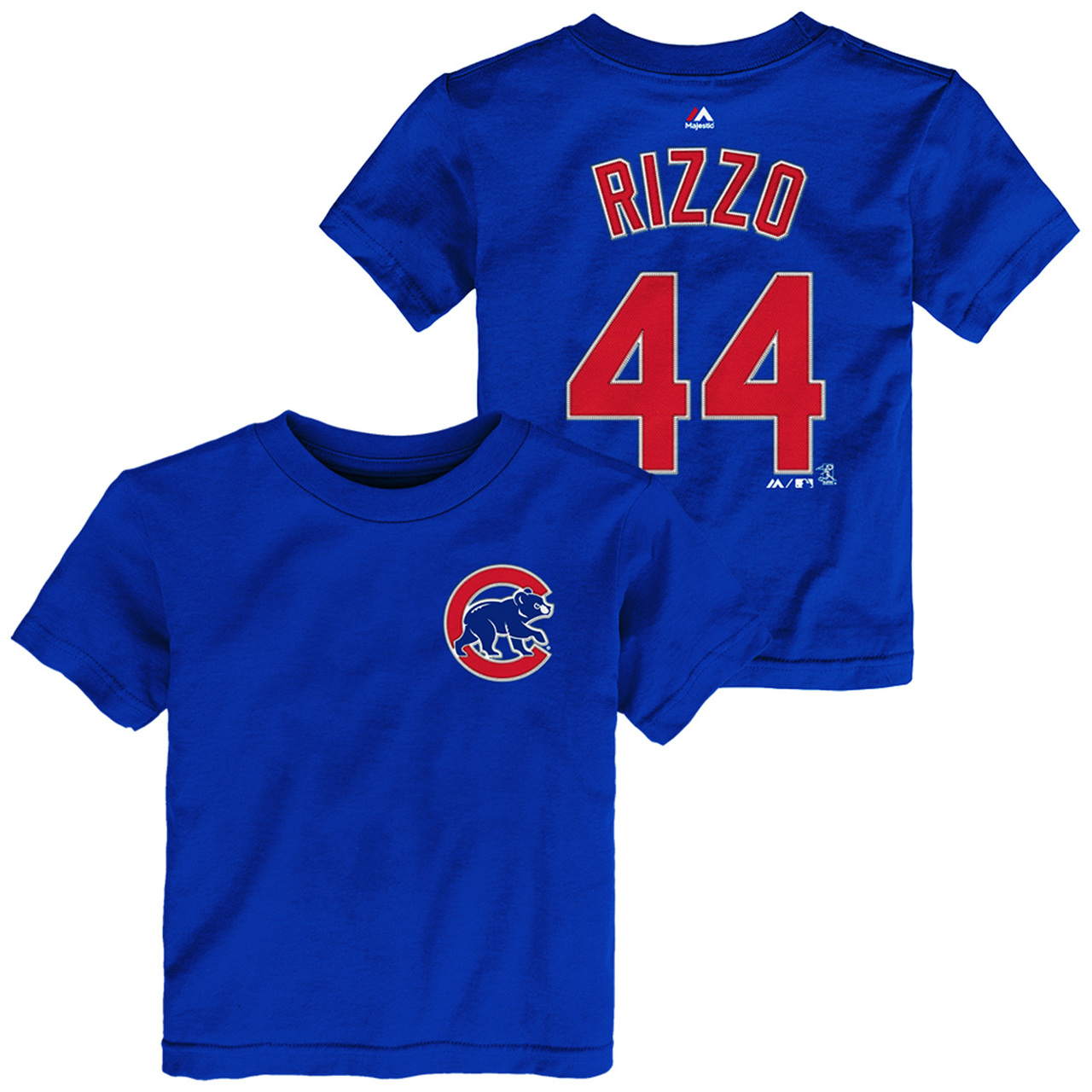 Chicago Cubs Toddler Anthony Rizzo Name and Number T-Shirt - Royal #44