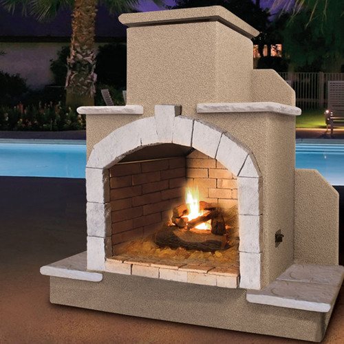78 in. Propane Gas Outdoor Fireplace by CalFlame