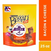 Purina Beggin' Strips Dog Training Treats, Bacon & Cheese Flavors - 25 oz. Pouch