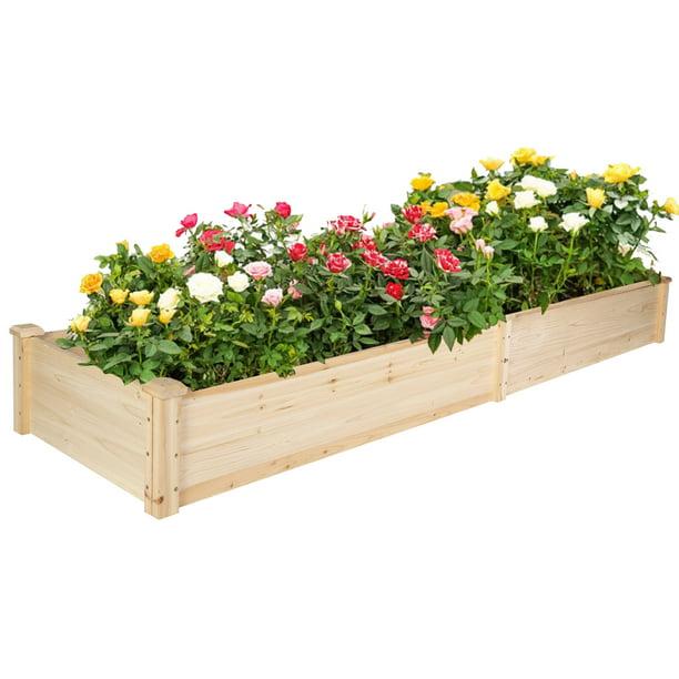KARMAS PRODUCT 7.5 Feet Raised Garden Bed Wooden Planter