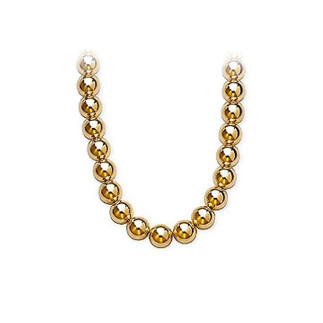 Fine Jewelry Vault SCNC1026Y 14K Yellow Gold 10mm Bead Necklace