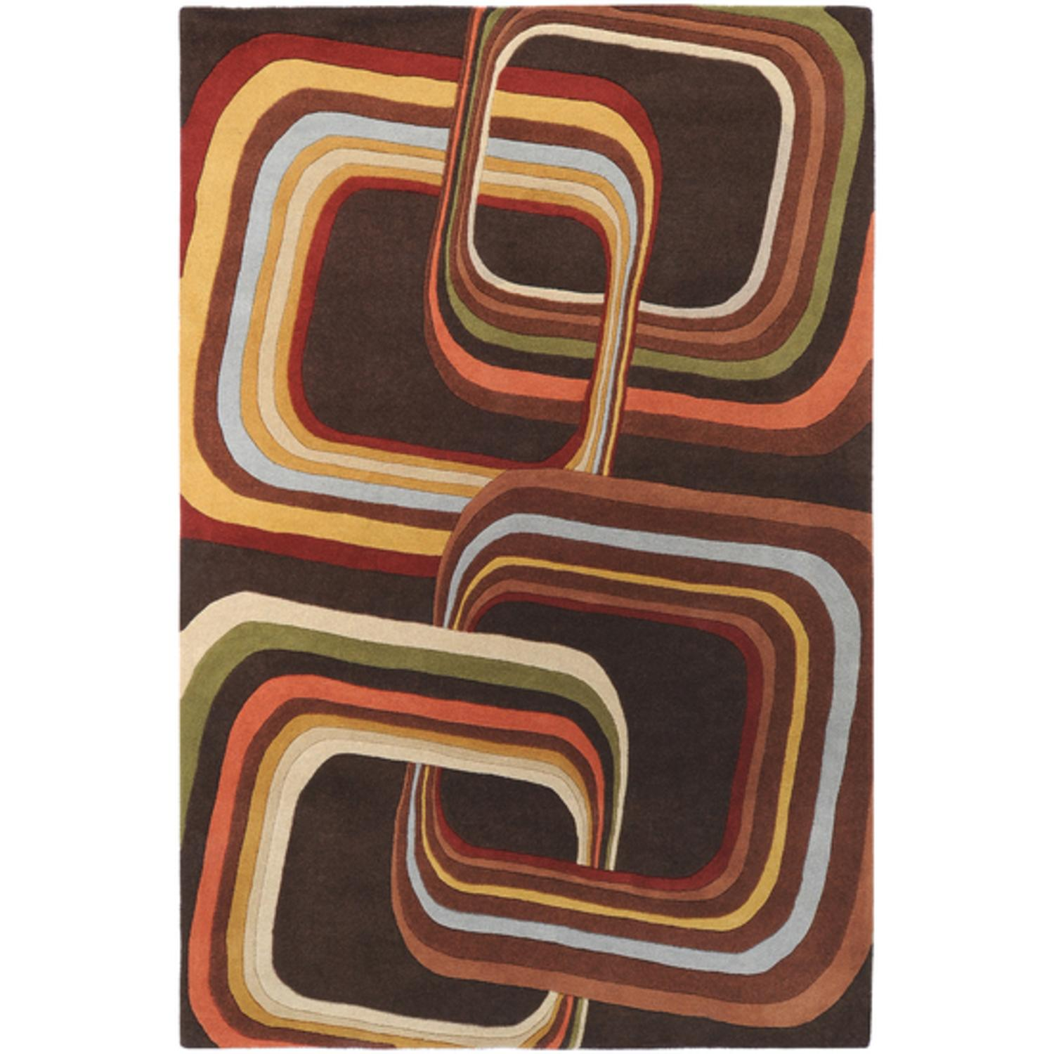 9' x 12' Eternal Apollo Contemporary Multi-Colored Rectangle Wool Area Throw Rug