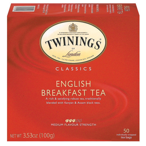 Twinings Of London English Breakfast Tea Bags, 50 ct