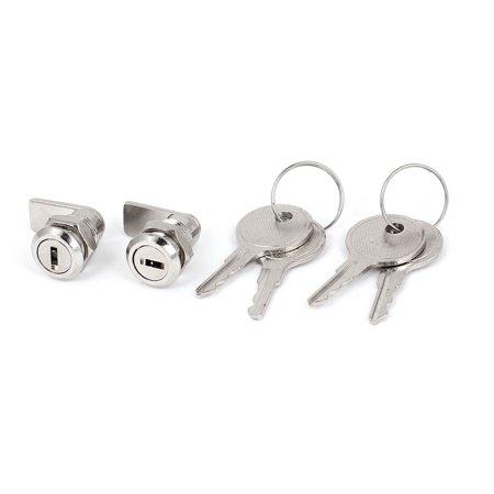 Cabinet Mailbox Toolbox Drawer 11.5mm Dia Thread Shaft Tubular Cam Lock 2pcs