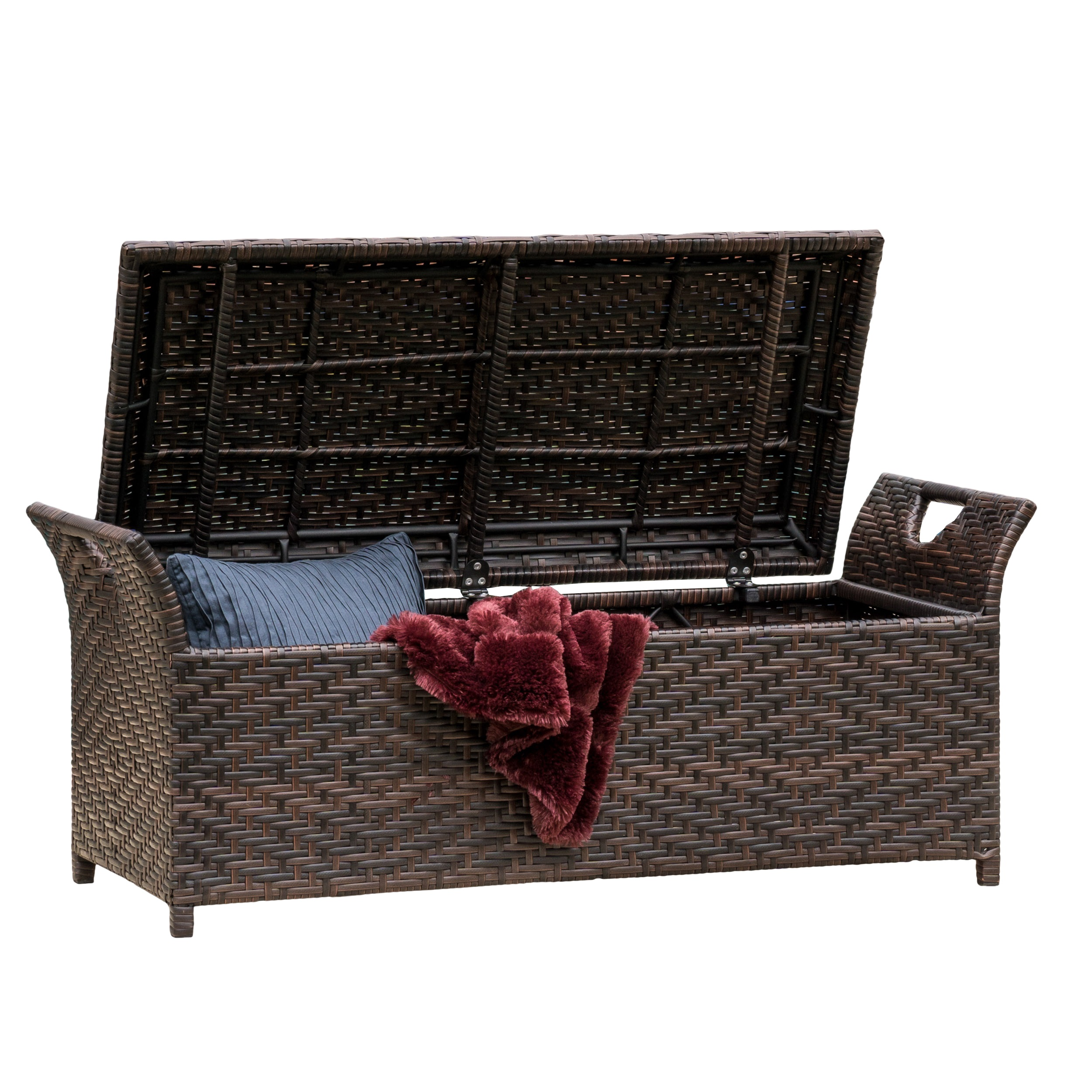 Noble House Danica Wing Outdoor Storage Bench