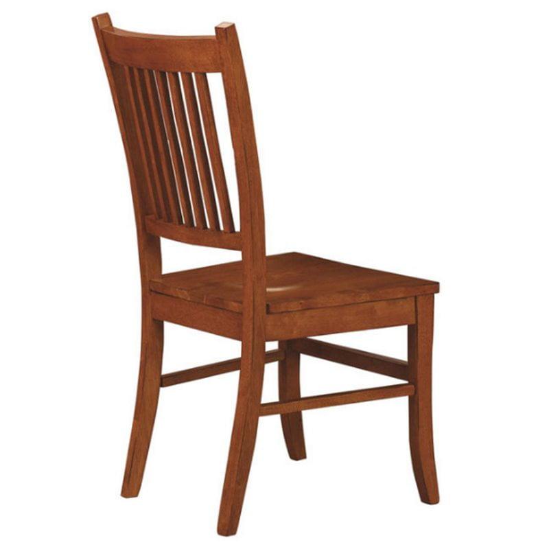 Coaster Company Marbrisa Slat Back Dining Chair , Burnished Oak (Set of 2)