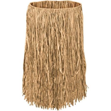 Adults Hawaiian Tropical Luau Tan Raffia Hula Skirt Costume Accessory](Grass Hula Skirt)