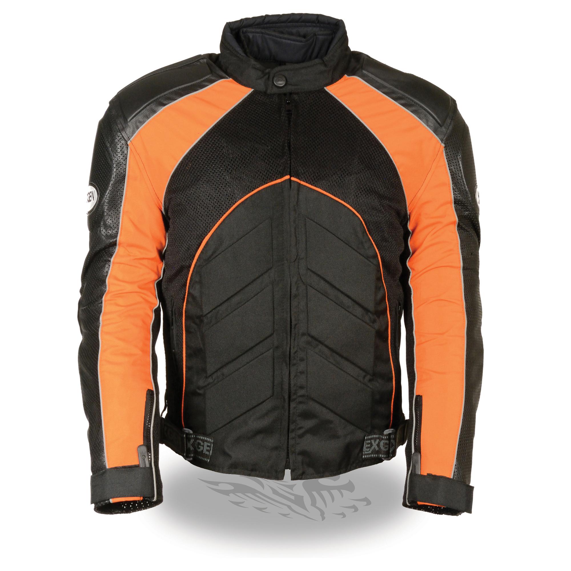 Mens Combo Leather / Textile / Mesh Racer Jacket
