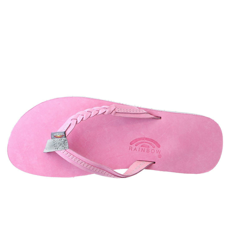 Rainbow Flirty Braidy Toddler /& Kids Size Pink//Grey Sandals 101LTSFB