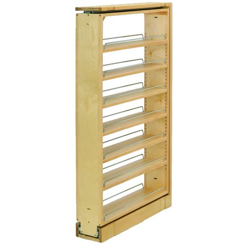 "Rev-A-Shelf 432-TF45-6C 432 Series 6"" Wide by 45"" Tall Upper Cabinet Filler Organizer with Five Adjustable Shelves"