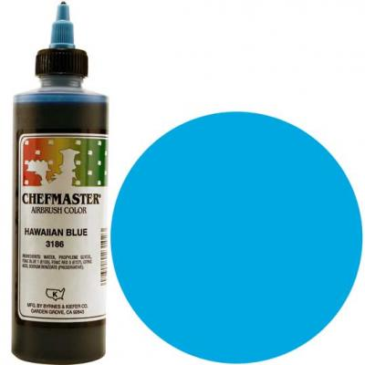 Chefmaster Airbrush Colour - Hawaiian Blue - 9 oz