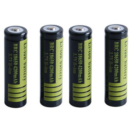 1 Pcs 3.7 V 18650 4200 mAh Li-ion Rechargeable Battery for Flashlight Torch (Li Ion Polymer Battery 3-7 V 4-51 Whr)