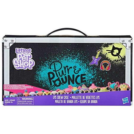 Littlest Pet Shop Purr & Pounce LPS Crew Case Mini Figure Set