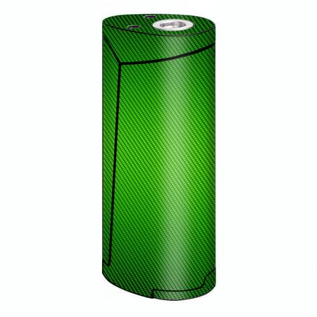 Skins Decals For Smok Priv V8 60W Vape   Lime Green Carbon Fiber Graphite