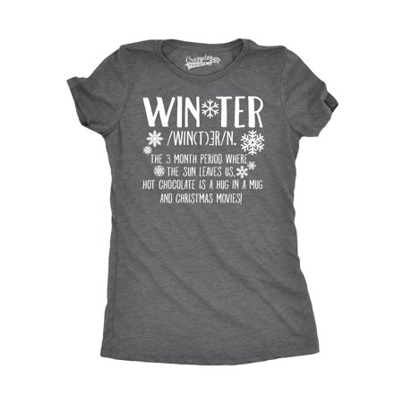 crazy dog funny t shirts womens winter definition funny christmas english t shirt for ladies walmartcom - What Is The Definition Of Christmas
