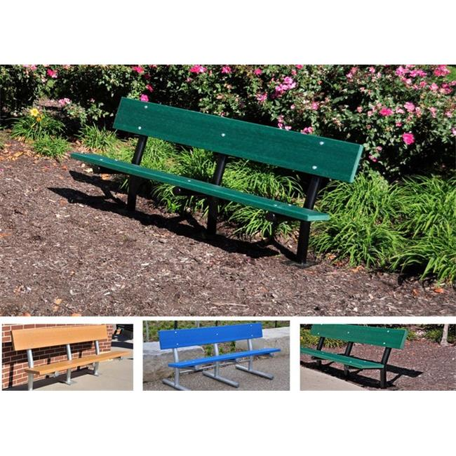 Jayhawk PB 6 GRAGFMADSUR Madison Surface Bench with Galvanized Frame, Gray - 6 ft.