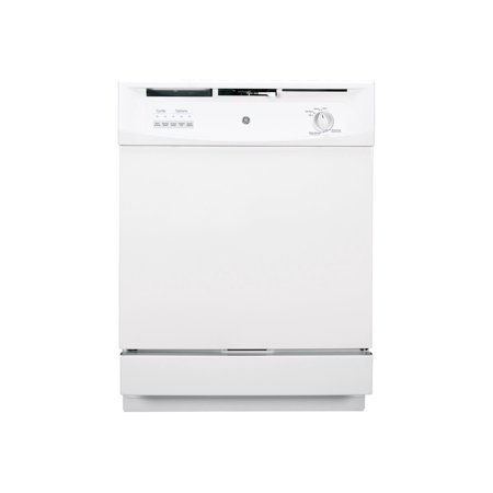 GE GSD3300KWW - Dishwasher - built-in - Niche - width: 24 in - depth: 24 in - height: 34 in - white