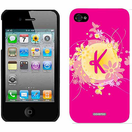 Funky Floral K Design on Apple iPhone 4/4s Thinshield Snap-On Case by Coveroo