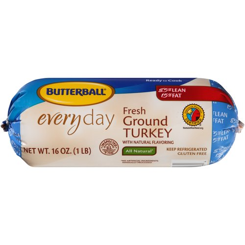 Butterball Everyday Fresh 85% All Natural Ground Turkey 1.0 lbs.