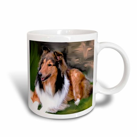 Rough Haired Collie (3dRose Rough Collie, Ceramic Mug, 11-ounce)