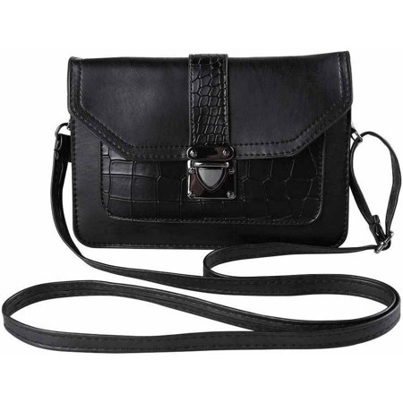 Corduroy Laminated Buckle Bag (Ridged Buckle Crossbody Purse Bag fits Cell Phones up to 6.5 inches by 4.3 inches)