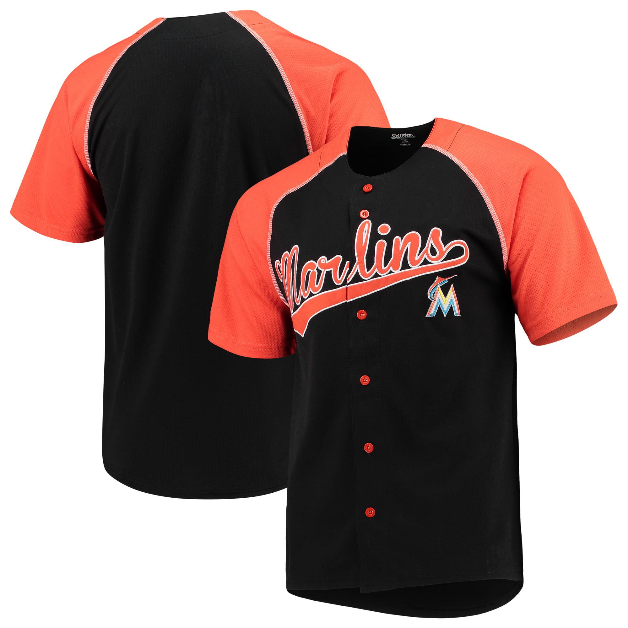 Miami Marlins Stitches Team Jersey - Black/Orange