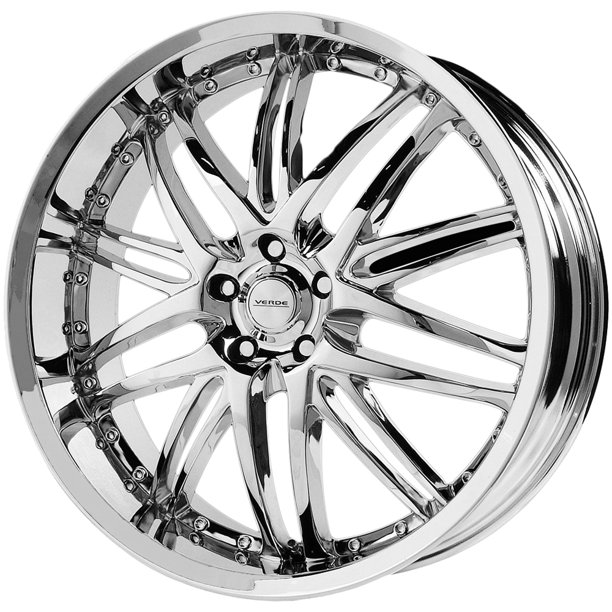 "20"" Inch Verde V55 Kaos 20X8.5 5x120 +20mm Chrome Wheel Rim"